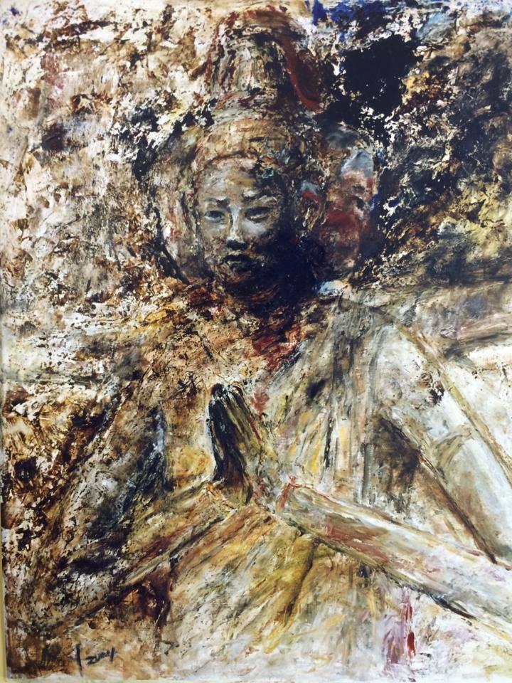 パリのル・サロン展に出展した阿修羅像