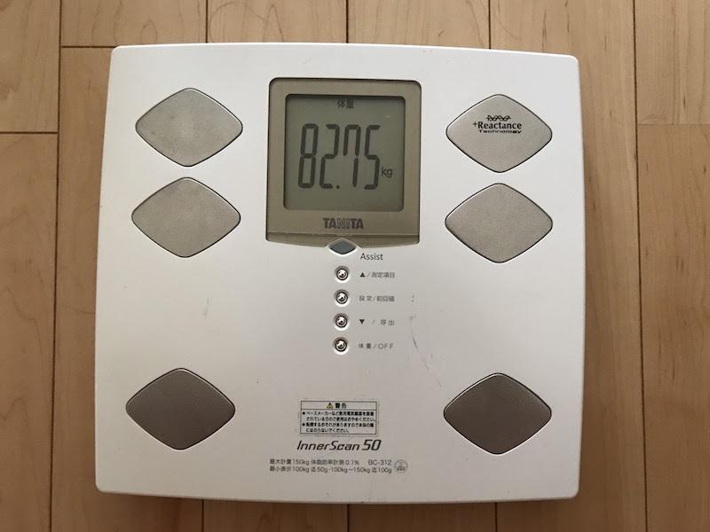 82.75kgに!